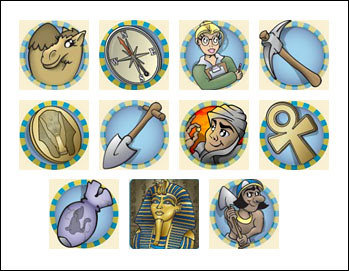 free Desert Dreams slot game symbols