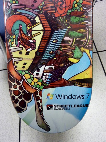 Windows 7 Skateboard Deck by Ladewig