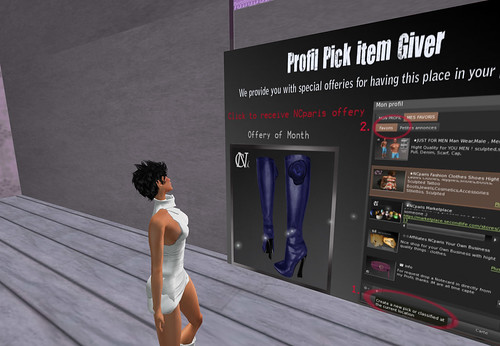 Profile Pick Item Giver NCparis by Cherokeeh Asteria