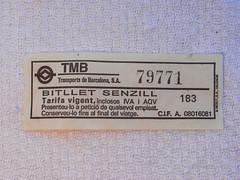 bitllet senzill 79771