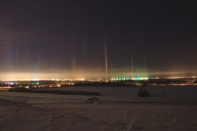 Light Pillars over Fairbanks