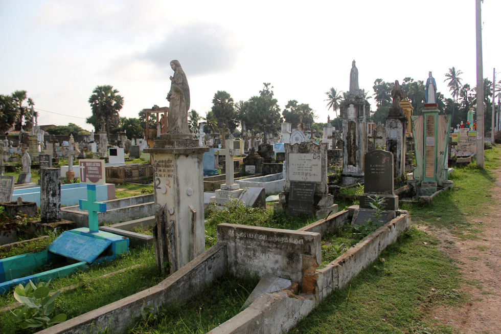 Graveyard in Jaffna, Sri Lanka