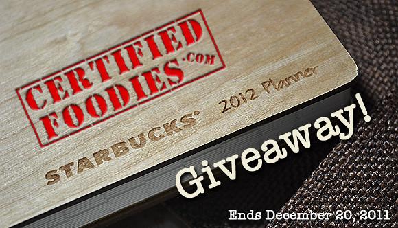 CertifiedFoodies.com Starbucks 2012 Planner Giveaway