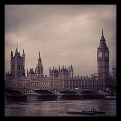 London's Houses of Parliament (CJPolitzki) Tags: uk greatbritain houses england london thames river square big ben unitedkingdom britain parliament squareformat sutro iphoneography instagramapp uploaded:by=instagram