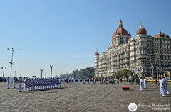 Indian Navy Parade, Gateway of India, Mumbai. ( Rizwan Mithawala) Tags: blue sky people urban india color colour tower heritage water beauty architecture asian drums hotel town nikon downtown indian tata navy taj mahal tajmahal palace structure bombay maharashtra mumbai hdr southmumbai arabiansea colaba rizwan paradeband d5100 rizwanmithawala mithawala nikond5100 1855mmvrkitlensgateway detlenh40012defaultunsharpclarifysmall