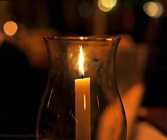 Candlelight (nikkorglass) Tags: 50mm lightandshadows nikon sweden bokeh f14 september candlelight sverige gotland nikkor visby ljus 2011 stearinljus d700 munkkällaren nikkorglas