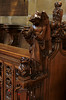 Tideswell, Derbyshire, church of St. John the Baptist, choir stalls, bench end (groenling) Tags: wood uk greatbritain england angel choir britain derbyshire carving gb tideswell stalls woodcarving purity stjohnthebaptist cathedralofthepeak benchends