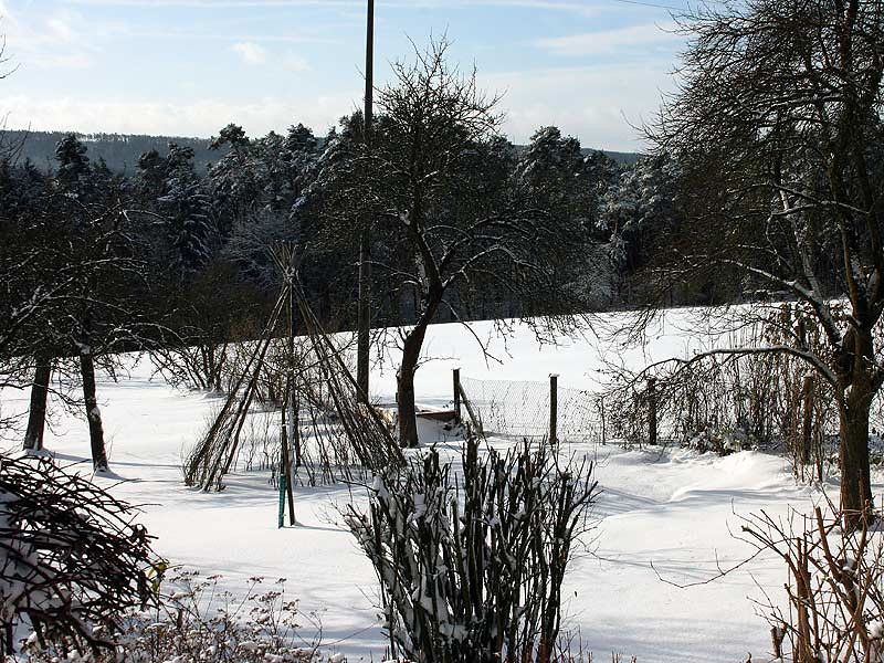 Ferienhof Laux - winterlicher Garten