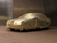 (Crausby) Tags: car mediumformat gold golden hasselblad cover covered vehicle motor covering motorcar mittelformat h3d newtopography davidcrausby