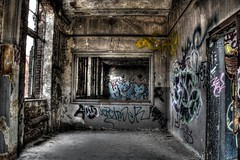 Abandoned places HDR 2 (Michis Bilder) Tags: graffiti industrial wasteland hdrabandonedplaces