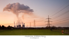 Mushroom. Fiddlers ferry (Ianmoran1970) Tags: sunset lines canon evening wire energy power smoke steam heat jar coal powerstation fiddlersferry ianmoran ianmoran1970