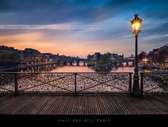 Pont des Arts, Paris | Explored #78 | (Beboy_photographies) Tags: blue paris france saint seine louis cit arts ile des hour pont saintlouis neuf hdr matin photographies beboy