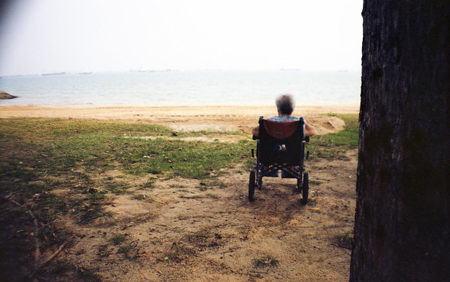 Lonely old woman