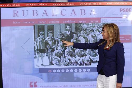 Elena Valenciano presenta la nueva web de Rubalcaba