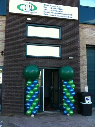 Ballonpilaar Breed Rond Cleanmaster B.V. Rotterdam