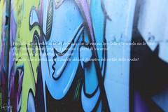 Possibile che a sedici anni sei convinto che la vita sia la scuola e la scuola sia la vita? (Etta Valentine ) Tags: blue verde green graffiti book blu text violet libro il come bianca latte viola murales sangue scritta rossa biancacomeillatterossacomeilsangue