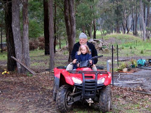Riding at Grandpa's farm
