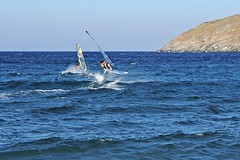 Going with the wind (n.pantazis) Tags: action extreme windy windsurfing andros pentaxkx roughsea korthi korthibay dal50200
