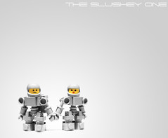 Space Love (The Slushey One) Tags: boy people man men classic girl yellow grey friend lego space suit hardsuit