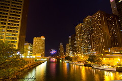 Chicago Nightscape (www.worldofraees.com) Tags: bridge chicago day nightscape michigan marathon avenue ringexcellence