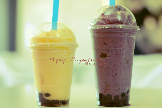 Pineapple and Blueberry Bubble Tea