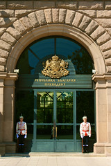 (Brian Aslak) Tags: door office europe day sofia entrance doorway bulgaria guards  pev  presidentoftherepublicofbulgaria