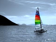 Vassiliki Cat ~ Levkas Island,Greece (saltburger) Tags: sailboat greece hobiecat levkas vassiliki saltburger