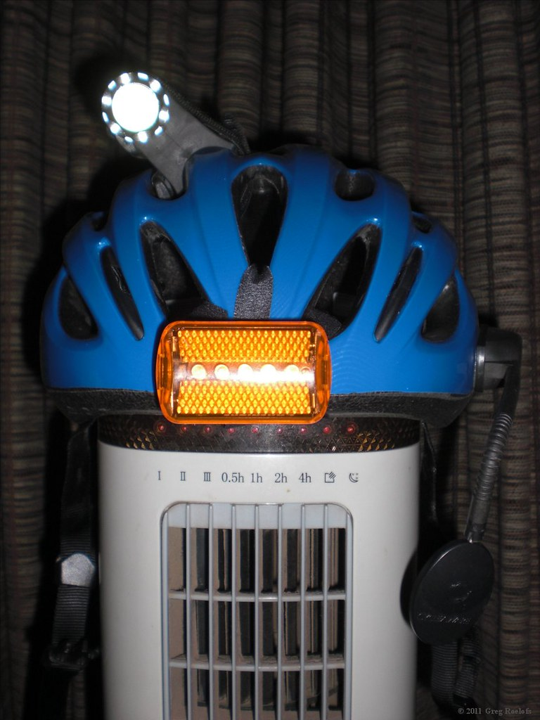 new helmet, temporary lighting setup