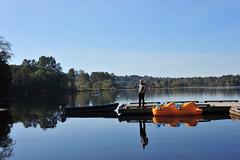 Still waters run deep (D70) Tags: park autumn lake canada reflections boats still bc deep run deer burnaby waters deerlake deerlakepark