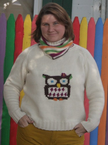 Owl sweater & cowl