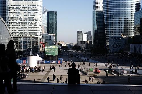 around La Grande Arche de la Défense, Paris