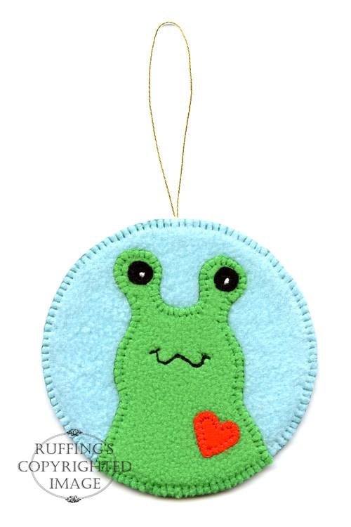 Fleece Hug Me Slug Keepsake Christmas Ornament by Elizabeth Ruffing