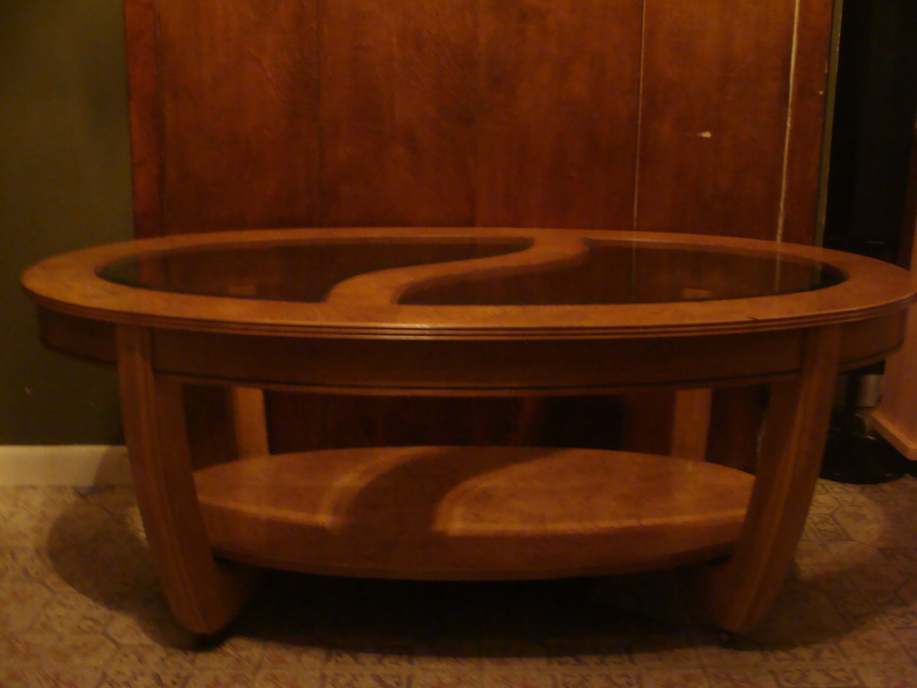 Bob`s London wood and tempered glass Cocktail Table Set
