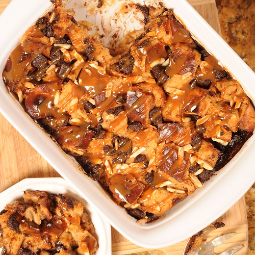 Dulce de Leche Mexican Chocolate Chunk Bread Pudding Recipe for a ...