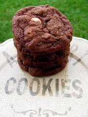 Triple Chocolate Overload Cookies (lorinelise) Tags: white cookies dark recipe dessert baking milk cookie sweet sale chocolate sugar gift chip chunk bake triple overload blinkagain