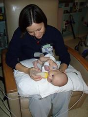 Mommy bottle feeding