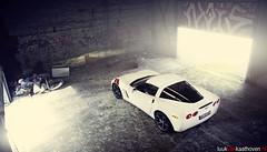 The GrandSport.. (Luuk van Kaathoven) Tags: white chevrolet belgium van corvette doel luuk grandsport autogetestnl luukvankaathovennl autogetest kaathoven