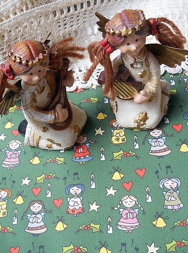 Fabric: Little xmas angels by Catru