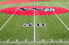 Day 49 (DerickCarss) Tags: usa field grass america logo football newjersey stadium unitedstatesofamerica nj crest american pitch indians weehawken 50yardline