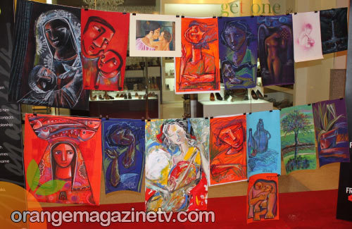 Vincente Manansala's paintings were displayed all over the venue