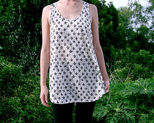 30_Star Printed Racer Back Top