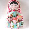 Russian Matryoshka cloth dolls (Zouzou Design) Tags: plush softie babushka matryoshka russiandoll clothdoll nestingdoll stackingdoll