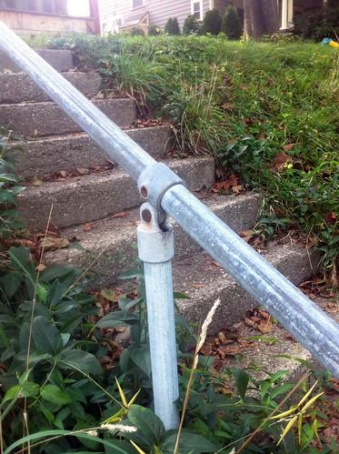 Simple Residential Pipe Railing