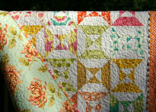 zinnia quilt - backing