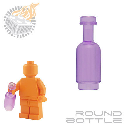 Round Bottle - Trans Purple
