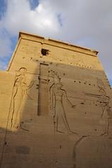 Philae Temple as the sun sets (chillveers15) Tags: island temple egypt nile philae aswan agilka