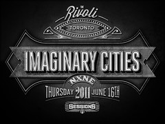 Imaginary Cities (Pretty/Ugly Design) Tags: toronto vintage typography graphicdesign rivoli greyscale nxne cbcradio3 imaginarycities sanbornperrismapco