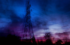 Tower of Power (365-299) (David Guidas) Tags: morning sky color tower nature dawn pentax dramatic westvirginia powerline 365 icm topaz project365 k20d intentionalcameramovement da1770 2011inphotos