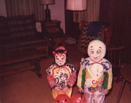 One of my first Halloweens that's me on the right.