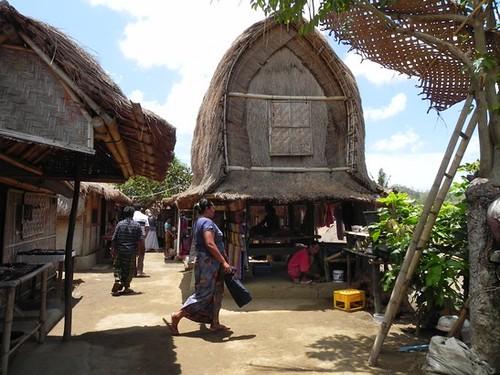 Lombok - Rambitan - mode d'habitat du village traditionnel des Sasaks